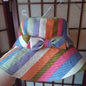 Coach Colorful Stripe Bucket Hat